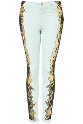 MOTO Jaguar Metallic Leigh Jeans - Jeans  - Apparel  - Topshop USA