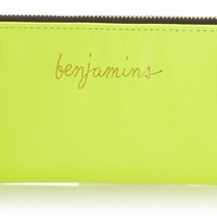 Rebecca Minkoff Benjamins Pouch Wallet,Neon Yellow,One Size