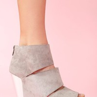 Coraline Platform Wedge in Gray