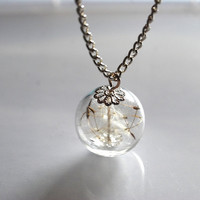 Dandelion Necklace Make A Wish