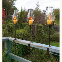 Glass Hurricane Lanterns - NapaStyle