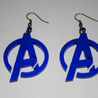 Avengers Logo Earrings by PandamoniumEmporium on Etsy