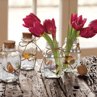Feathered Friend Mini Vases - NapaStyle