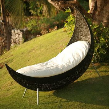 Neoteric Cheshire Modern Outdoor Wicker Patio Chair at HomeInfatuation.com.