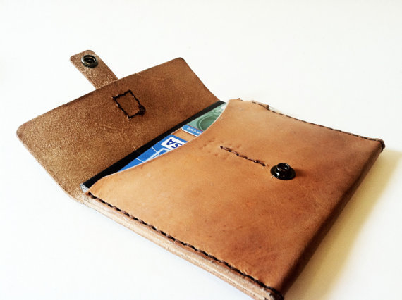 Womens Wallet Leather Wristlet Passport by CicadaLeatherCompany