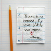 Hand Embroidered Poetic Love Note with by cornflowerbluestudio