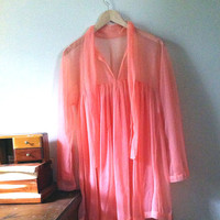 Sheer Lingerie Blouse/Coverup by JezzyBelles on Etsy