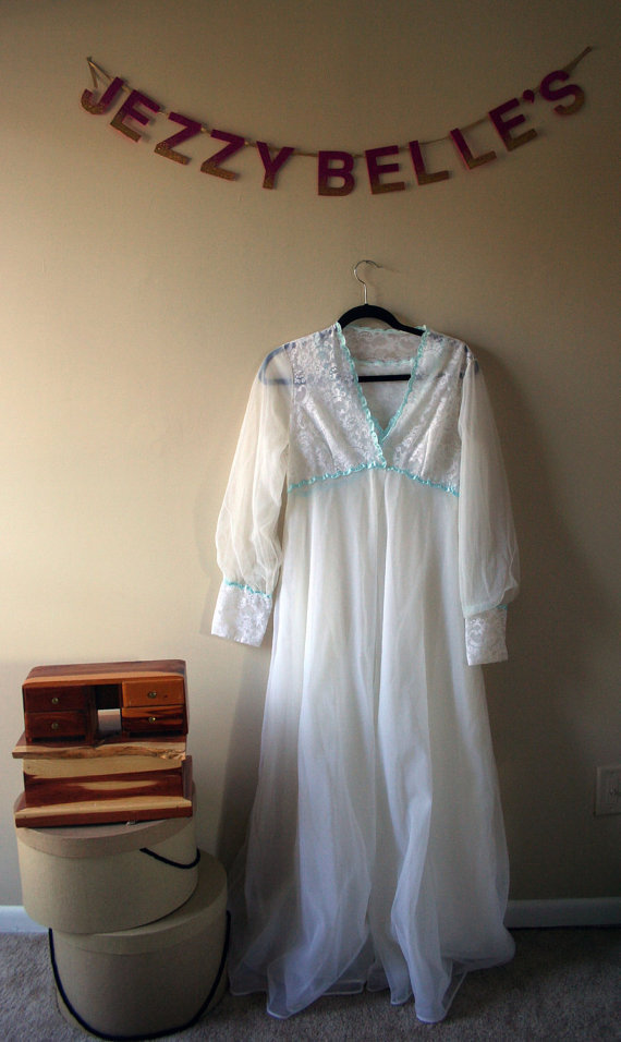 Shadowline Wedding Peignoir by JezzyBelles on Etsy
