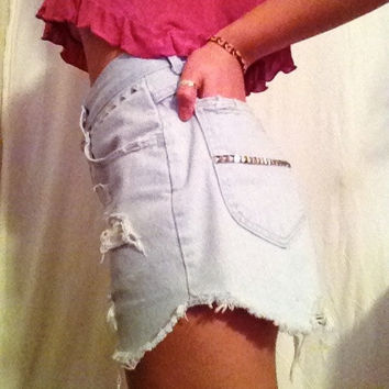 High Waisted Studded Shorts by MFjewels on Etsy