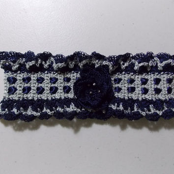 Blue and Silver Keepsake Garter