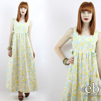 Vintage Hippie Dress Festival Dress Side Ties Dress Handmade Dress Vintage 70s Floral Dress Boho Dress Maxi Dress Hippy Dress