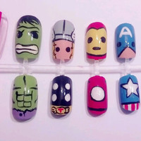 Avengers Nail Set by MaryMars on Etsy