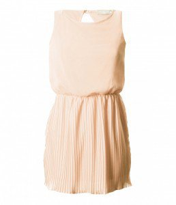LOVE Nude Pleat Gathered At The Waist Dress - Love