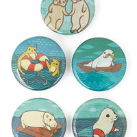 ModCloth Nautical Which One of These Things? Button Set