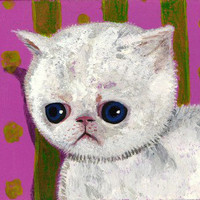 Print Of Sad Allergic Cat | Luulla