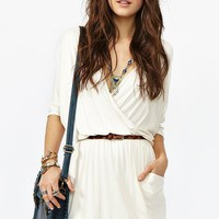 Draped Across Dress - Cream in  What's New at Nasty Gal