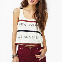 Rivalry Tank - Cream in  Clothes at Nasty Gal