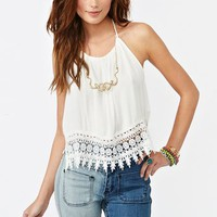 Daisy Halter Top in  Clothes Back In Stock at Nasty Gal