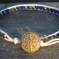 Nautical blue cobal bracelet chan luu inspired by LindaMunequita