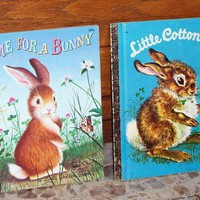 Vintage Little Golden Books  Little Cottontail by 4oldtimesandnew
