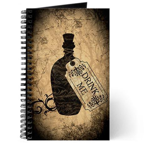 Drink Me Bottle Journal by opheliasart- 401410443