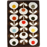 Heal's | Orla Kiely Oval Flowers Rug Brown > Rugs > Rugs > Accessories