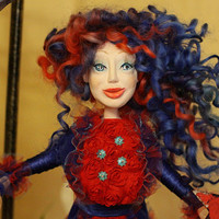 OOAK Art Doll Elviramistress of the dreams hand by LanaDiNata