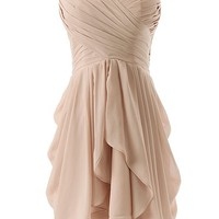 Dressystar Short Strapless chiffon party dress evening dress