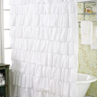 ideeli | TRIANGLE Ruffle Shower Curtain