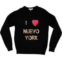 Bow & Drape, sweatshirts, comfy shirts, weekend wear, lounge, soft shirts, customized, new york, i love NY, funny, hearts