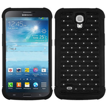 MYBAT Lattice Dazzling Case for Galaxy Mega 6.3 - Black/Black
