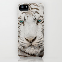 WHITE TIGER GAZE iPhone & iPod Case by Catspaws | Society6