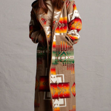 Wool Coats, Reversible Long Coat in Chief Joseph Khaki, Pendleton® Jacket