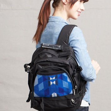 Pendleton ® Wool Fabric Back Pack Yavapai Blue