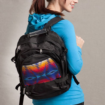 Pendleton ® Wool Fabric Back Pack Pecos Sapphire