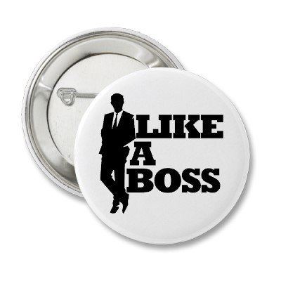 Like a Boss Button from Zazzle.com