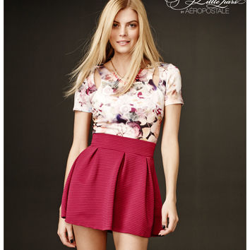 Pretty Little Liars Hanna Floral Cutout Crop Top
