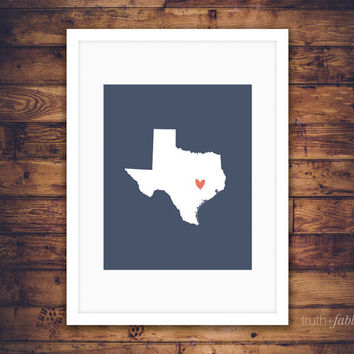 Texas State DIY Art Print