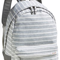 Poketo Striped Fleece Backpack