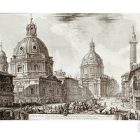 A View of Rome with the Two Churches of Santa Maria Di Loreto and the Church of Our Lady Art Print by Giovanni Battista Piranesi at Art.com