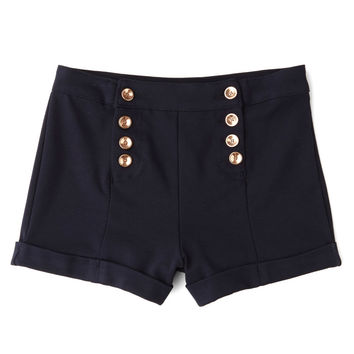 ModCloth Nautical High Waist You've Got Sail Shorts
