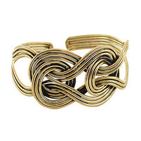 Brass Knot Cuff Bracelet at the Bibelot Shops