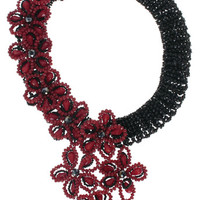 Majestic Rubies Statement Necklace- Handcrafted In NYC