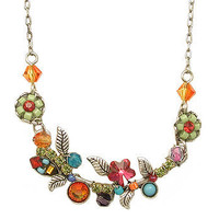 Petite Multi-Colored Scallop Flower Necklace at the Bibelot Shops