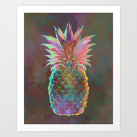 Pineapple Express Art Print by Schatzi Brown