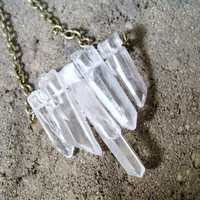Quartz Crystal Spear Raw Rough Necklace by RawEarthStudio on Etsy