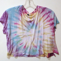 Tie Dye Crop Top Hippie 70s Tumblr Hipster
