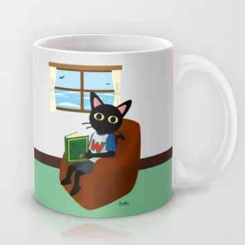 Reading a book Mug by BATKEI