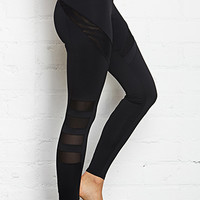 Power Mesh Paneled Leggings