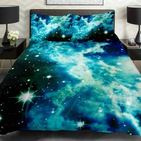 Galaxy Quilt Cover Galaxy Duvet Cover Galaxy Sheets Space Sheets Outer Space Bedding Set Bedspread with 2 Matching Pillow Covers (FULL):Amazon:Home & Kitchen
